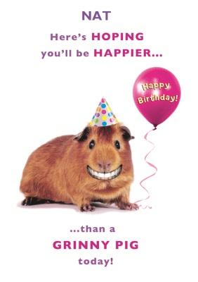 Grinny Pig Birthday Card Moonpig