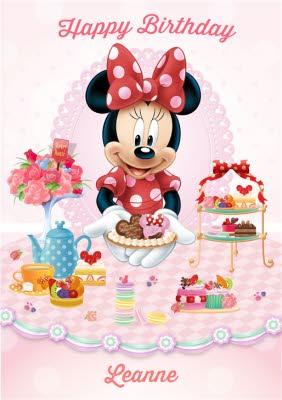 Disney Minnie Mouse Afternoon Tea Personalised Happy Birthday Card Moonpig