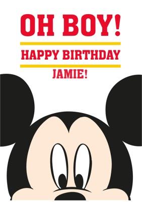 Mickey Mouse Birthday Card Moonpig