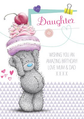 Tatty Teddy With Sweet Treats Happy Birthday Card For Daughter Moonpig