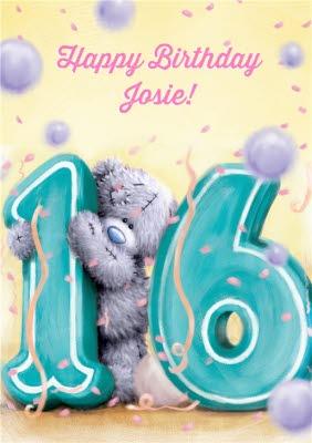 Tatty Teddy Lemon And Violet Personalised Happy 16th Birthday Card Moonpig