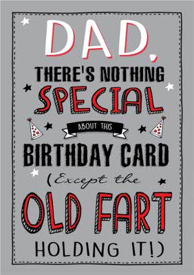 Funny Old Fart Birthday Card Dad Moonpig