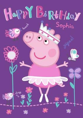 Happy Birthday Peppa Pig Card Moonpig