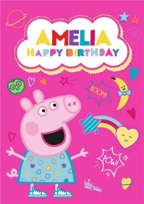 Peppa Pig Birthday Card Moonpig
