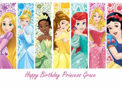 Disney Princess Birthday Card Moonpig