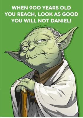 Birthday Card Star Wars Yoda Moonpig
