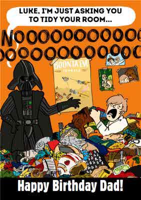 Funny Star Wars Darth Vader Luke Skywalker Dad Birthday Card Moonpig