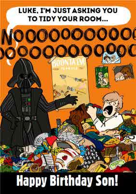Funny Star Wars Darth Vader Luke Skywalker Birthday Card Son Moonpig