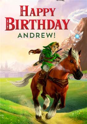 Nintendo The Legend Of Zelda Birthday Card Moonpig
