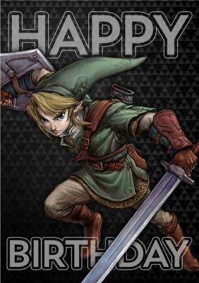 Nintendo The Legend Of Zelda Twilight Princess Birthday Card Moonpig