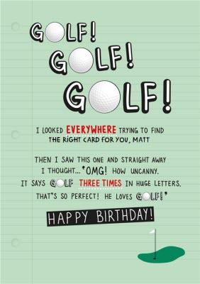 Golf Fanatic Happy Birthday Card Moonpig