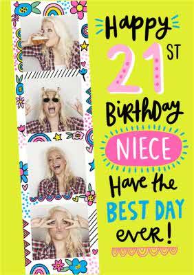 Happy 21st Birthday Niece Photo Uplaod Birthday Card Moonpig