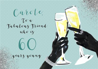 Fashionfashion Illustration Champagne Prosecco Birthday Card To A Fabulous Friend Moonpig