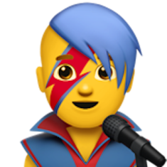 David Bowie's signature lightening bolt look will be a featured emoji on the new Apple iOS update