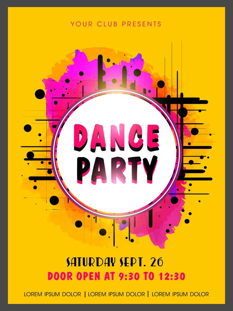Creative Abstract Dance Party Flyer Template Or Banner