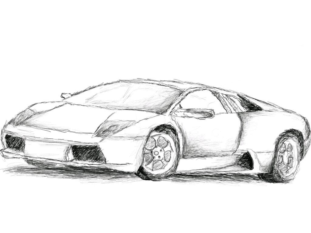 Super Sports Car Sketch