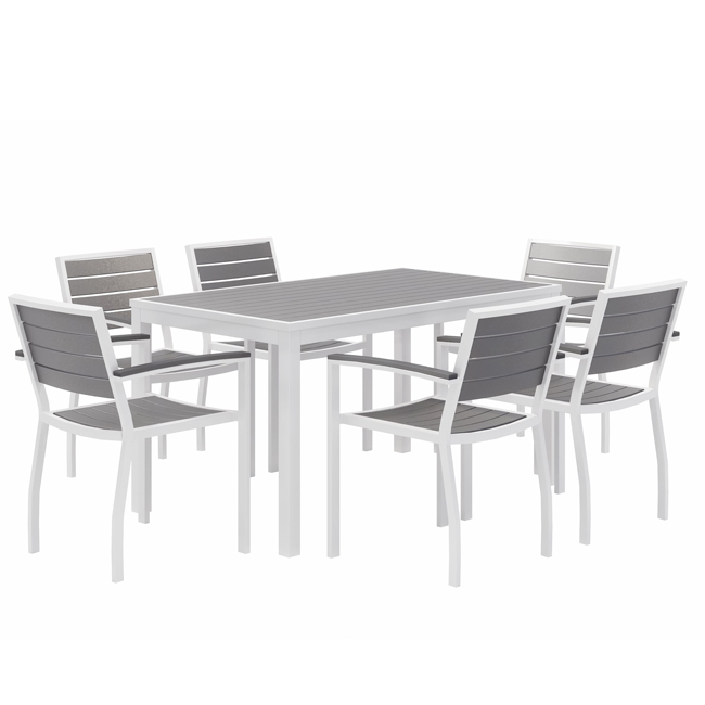 ivy series rectangle outdoor table set w 6 chairs