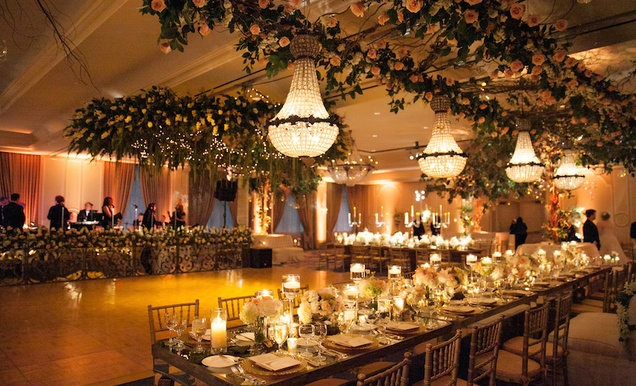 Traditional Church Ceremony Forest Inspired Reception In Houston Inside Weddings