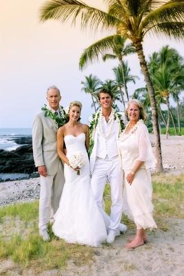 All White Destination Beach Wedding In Hawaii Inside
