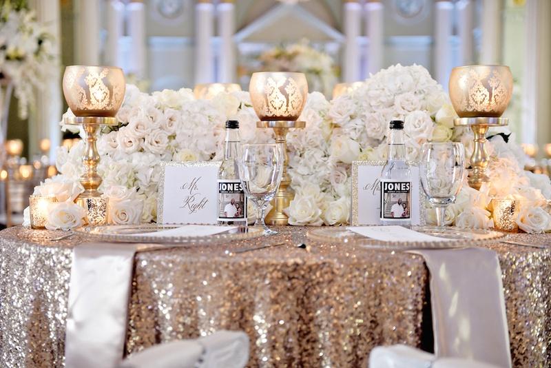 Reception Dcor Photos Gold Sequin Wedding Table
