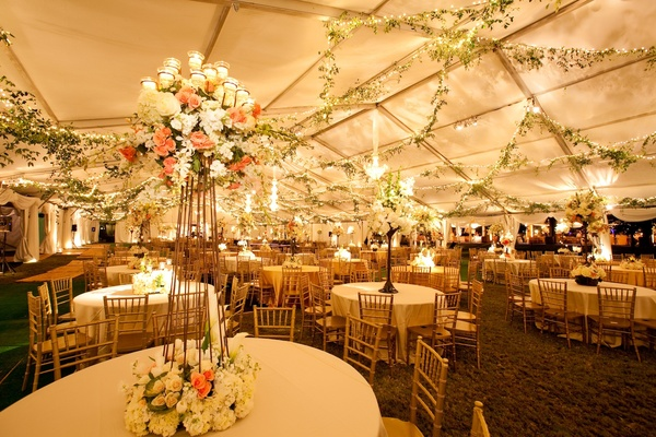 Romantic Lakefront Ceremony Elegant Tented Reception In