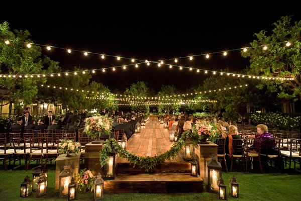 Bohemian Outdoor Garden Wedding Ceremony Rustic