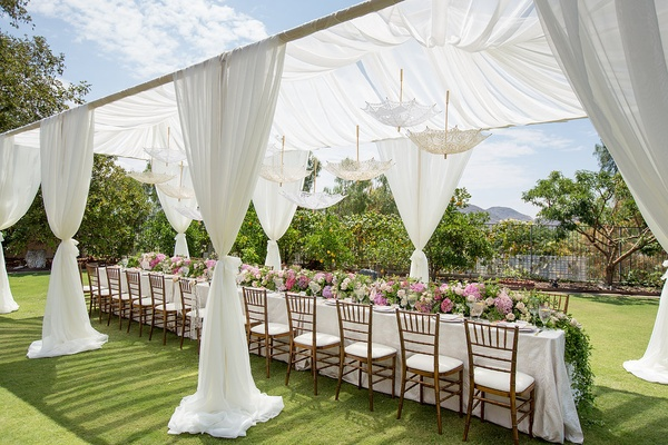 Romantic, Vintage-Inspired Outdoor Bridal Shower With