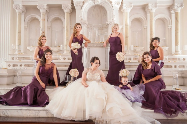 Greek Orthodox Church Ceremony + Glamorous Purple & Gold