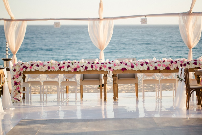 Oceanfront Head Table With Floral