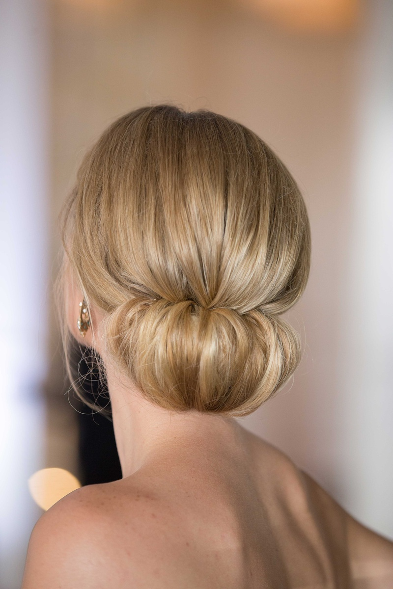 Beauty Photos Elegant Updo With Strapless Gown Inside