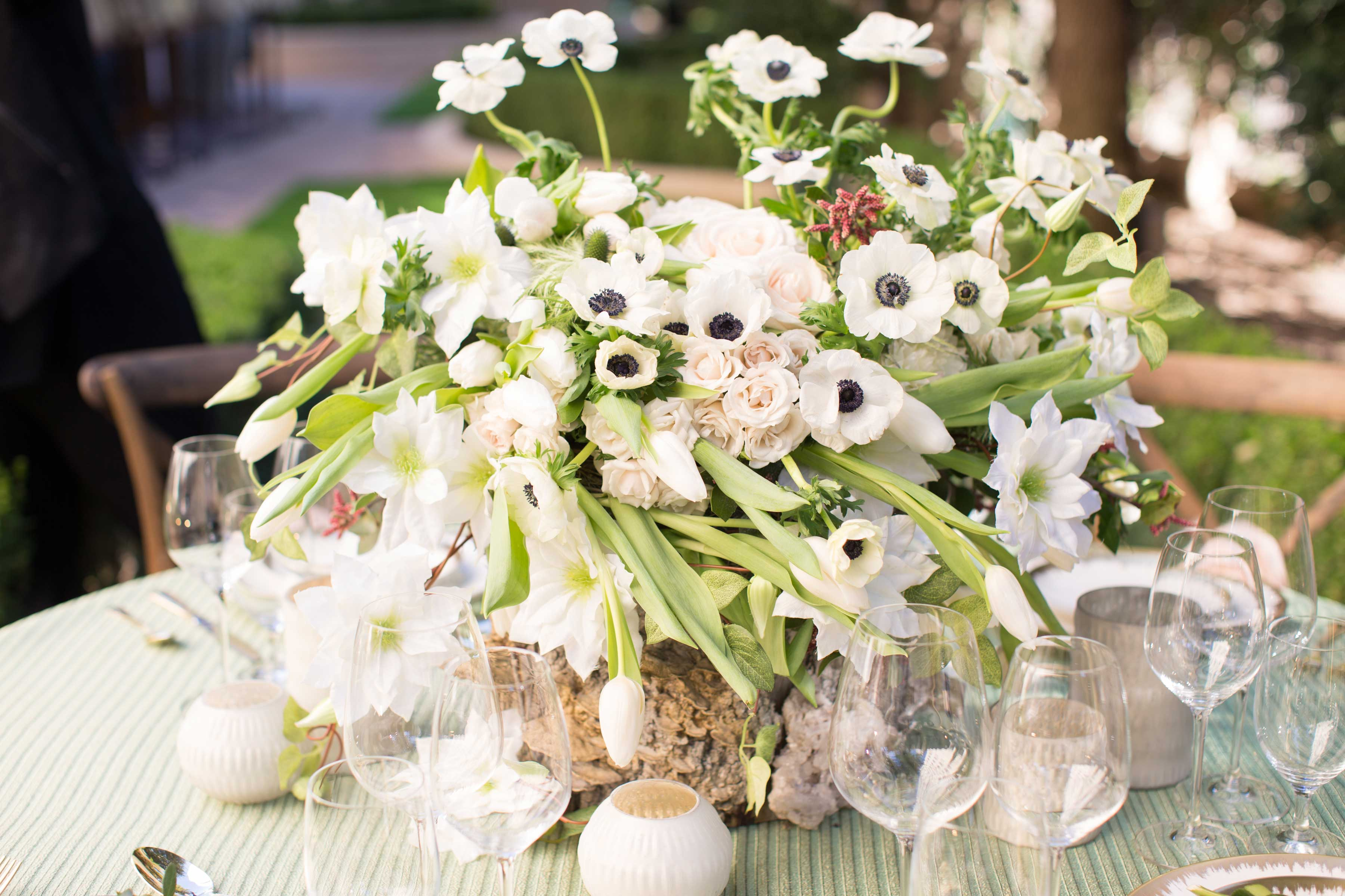 Wedding Flowers: Anemone Bouquets & Anemone Centerpieces
