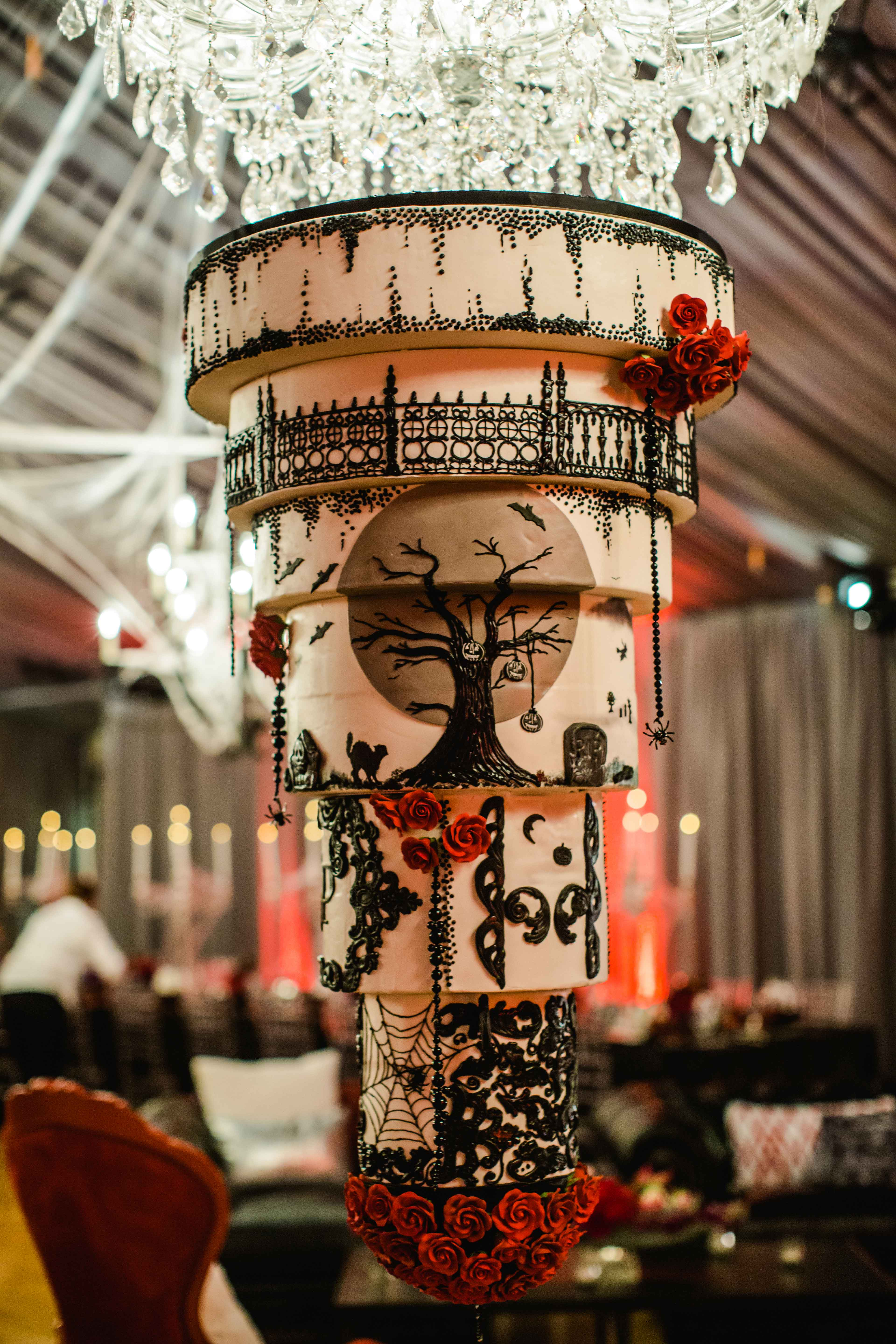 A Chic And Sophisticated Halloween Themed Wedding Inside