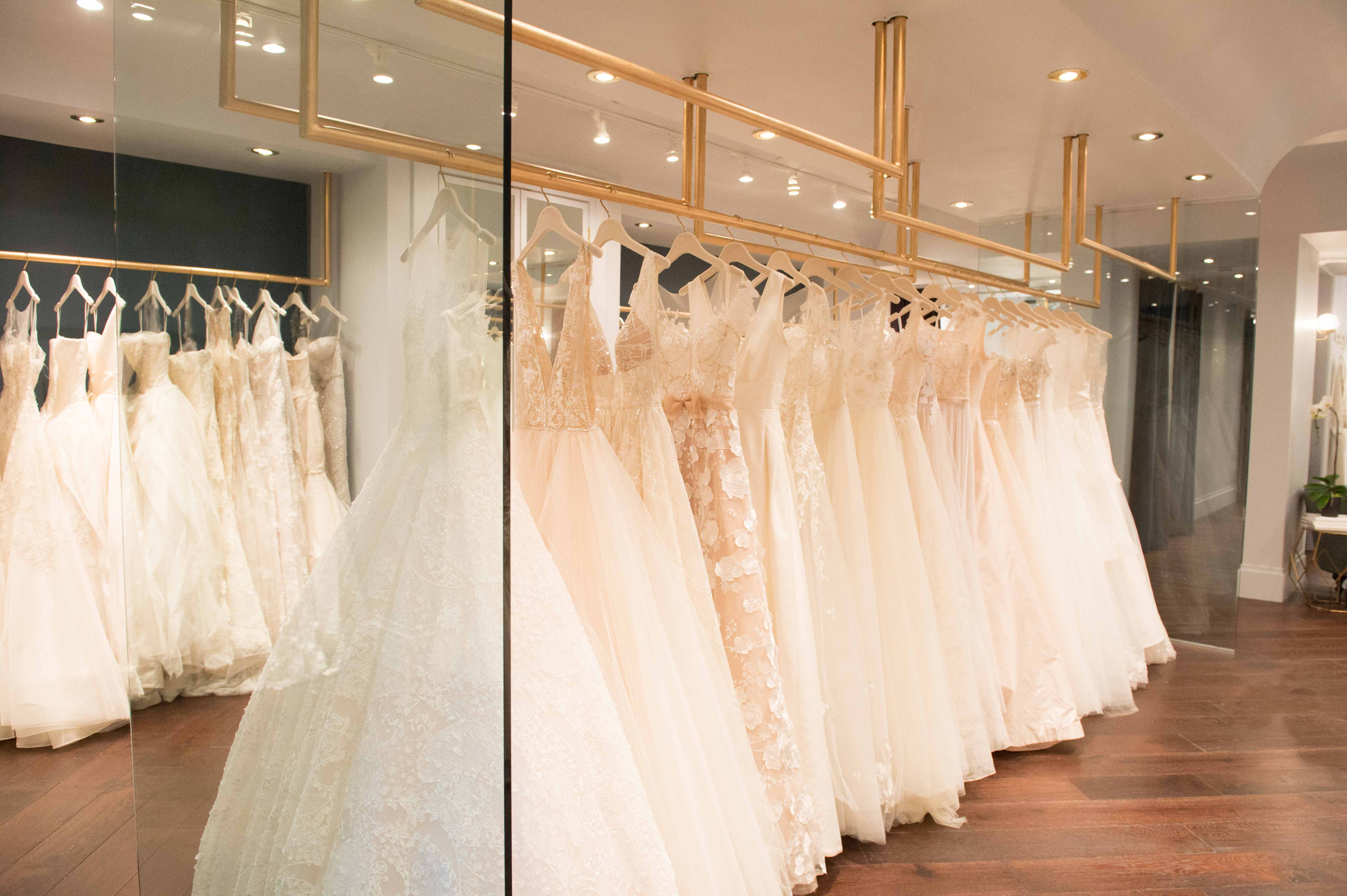 Carine 39 s bridal atelier for Wedding dress shops in dc