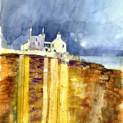Brims Ness original watercolour - Paul Bailey's landscape paintings