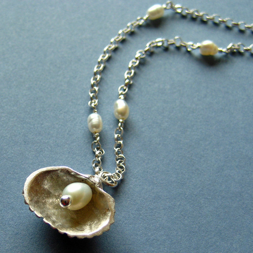 Summer Shells Hidden Pearl Necklace - Nanuk Jewellery