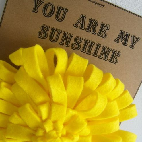 sunshine corsage from Mud Puppy