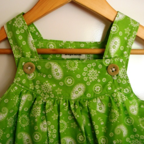 vivid green paisley flowered sun dress from Kryshees
