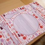 """Children """"learn to set the table"""" Fabric Place mat"""