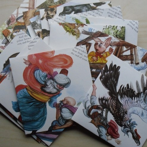 Fairytale envelopes, Art by Adora