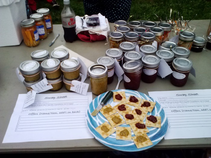 pictured at Philly Food Swap with my spicy beer mustard as well
