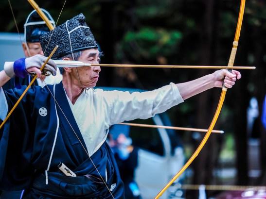 Man Demonstrating Kyudo