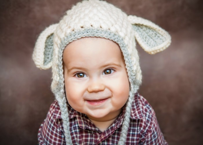Grinning Baby in a Hat