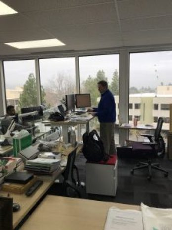 Standing desk, sitting is killing you, employee health