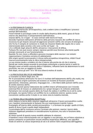 Riassunto Psicologia Della Famiglia Eb2011 Ups Studocu