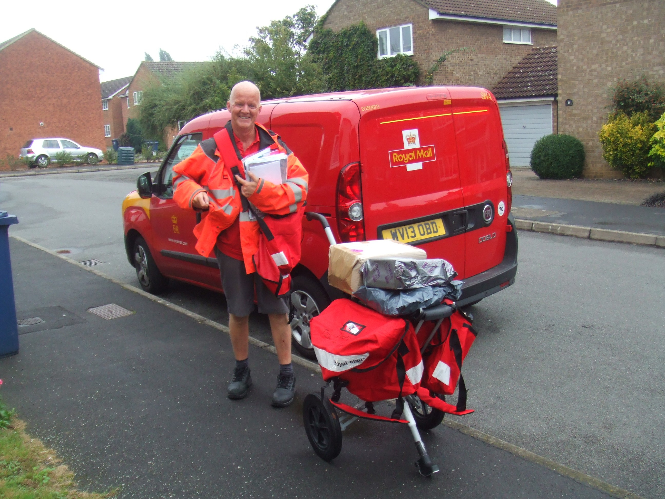 Our New Postman With His New Trolley On Oct 2nd 2013