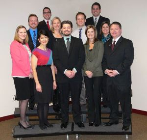 The newest National Board Certified teachers. (From left to right) Bottom Row: Angela Drenth, Gina Hubbard, Brian Drenth, Kimberly Selleck, Eric Hauser. Top Row: Christopher Grattoni, Jordan Catapano, Tanya Katovich, Brian Curtin, Derek Schmidt, and Tracy Serafini.