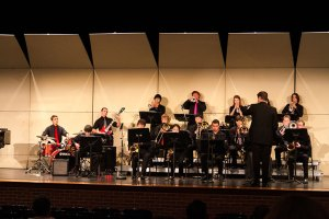 The Fremd High School Jazz Ensemble performs at the Northshore Jazz Festival.