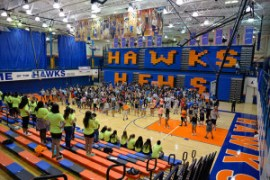 HEHS Freshman orientation helps new students familiarize themselves with the school prior to the first day.