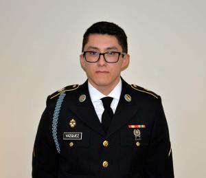 Hoffman Estates High School Alumnus and Private First Class Daniel Vazquez.