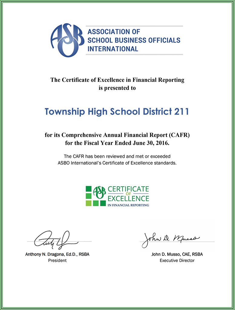 D211 Post District 211 Earns 11th Consecutive Certificate Of